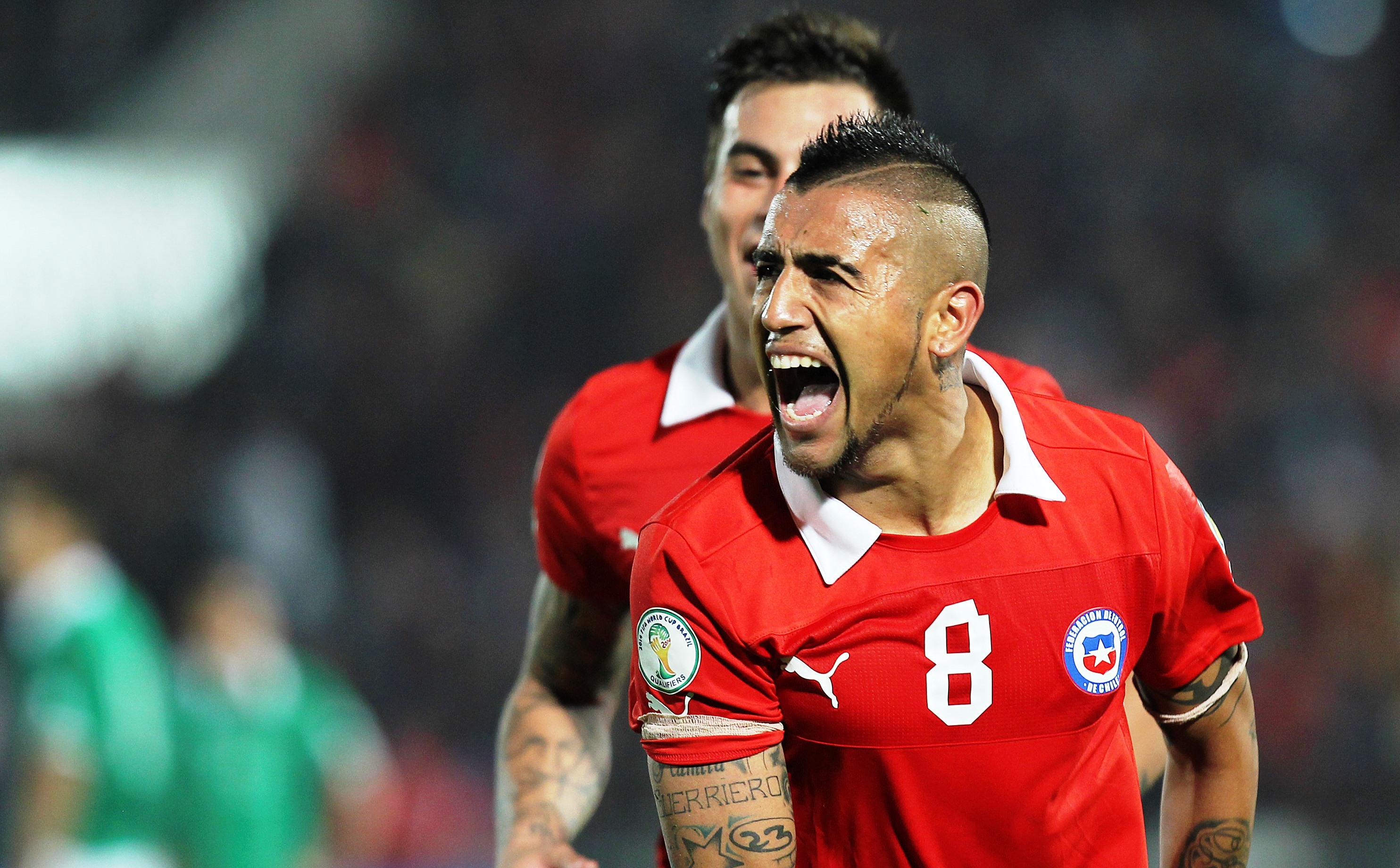 Vidal con il Cile