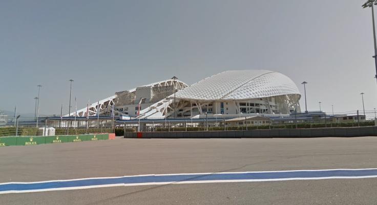 Lo stadio di Sochi visto dall'esterno