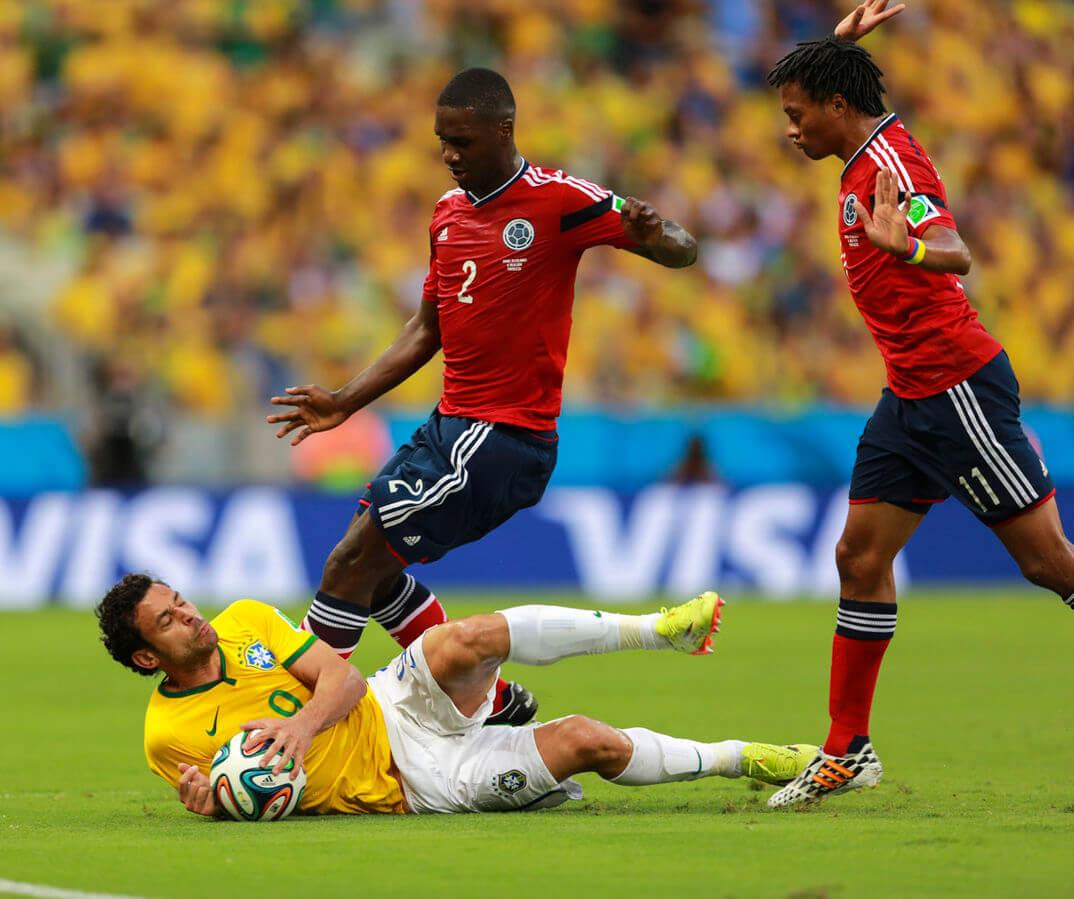 Cuadrado con la maglia della Colombia