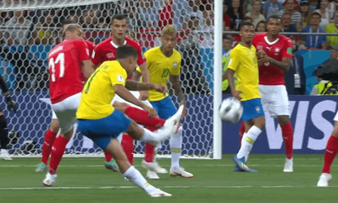 Il gol di Coutinho contro la Svizzera