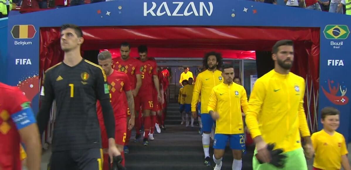 Brasile e Belgio entrano in campo