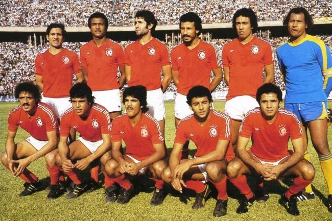 Nazionale della Tunisia nel 1978