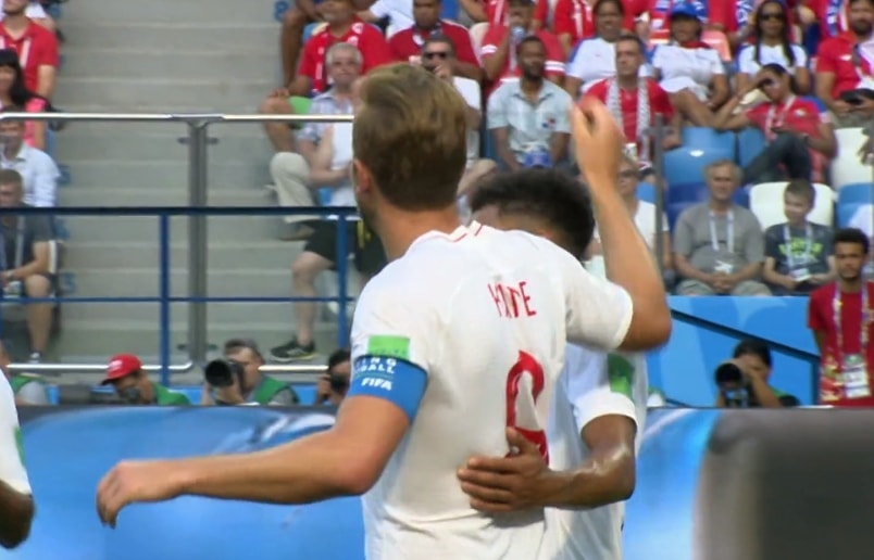 Harry Kane festeggia il terzo gol contro Panama