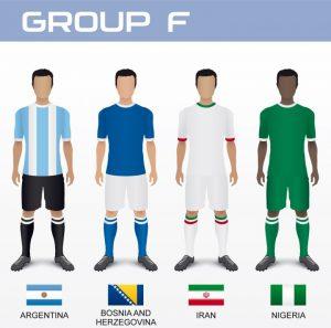 Gruppo F Mondiale 2014 con Argentina, Bosnia, Iran e Nigeria