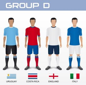 Gruppo D con Uruguay, Costa Rica, Inghilterra e Italia