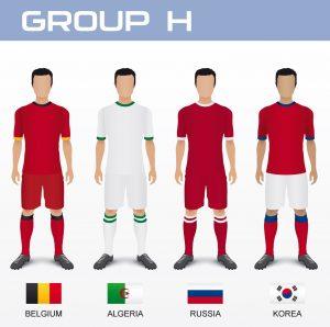 Gruppo H Mondiale 2014 con Belgio, Algeria, Russia e Corea del Sud